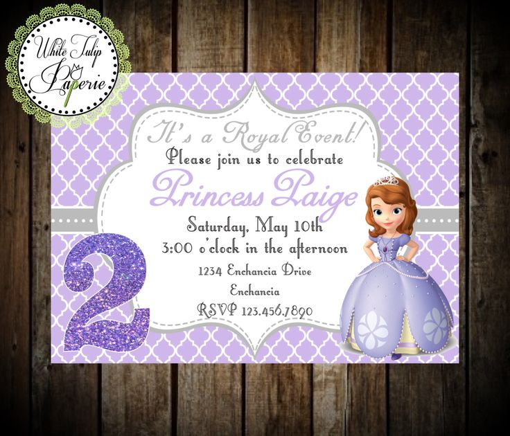 Unique Princess Sofia The First Ideas On Pinterest Princess - Birthday invitation template sofia the first