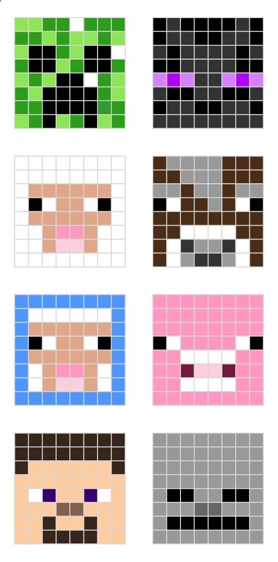 Minecraft designs for Fractions decimals and percentage Level a- color three different colors, write a fraction for each color you chose Level b-create a robot with 1/2 green 1/4 blue 2/8 red.... Level c-create a robot with1/2 green 25% blue 0.12 red...
