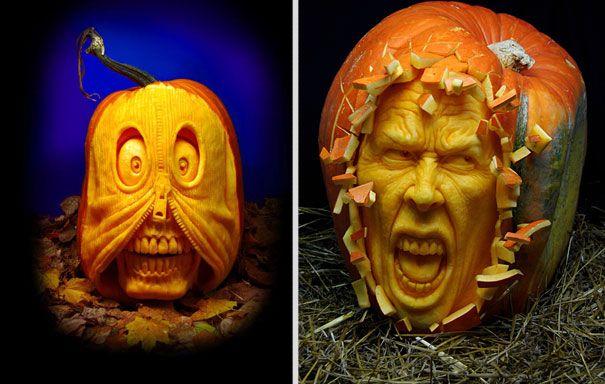 Unusual (and Amazing) Pumpkin Carvings
