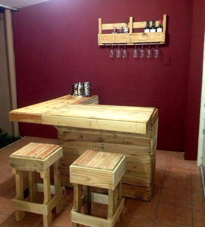 Pallet Bar Projects - 70+ Pallet Ideas for Home Decor | Pallet Furniture DIY - Part 6