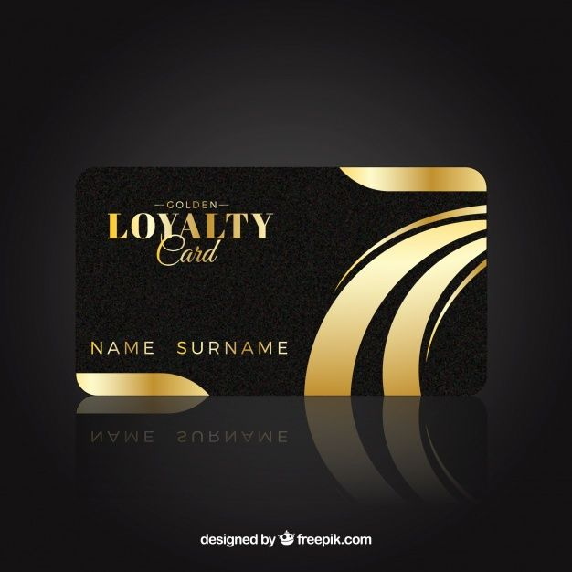 Download Elegant Loyalty Card Template With Golden Style For Free Loyalty Card Template Free Printable Business Cards Loyalty Card