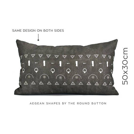 Artistic pillow, scandinavian cushion, charcoal gray, monochrome décor, accent pillow, couch pillow, housewarming gift, toss pillow cover