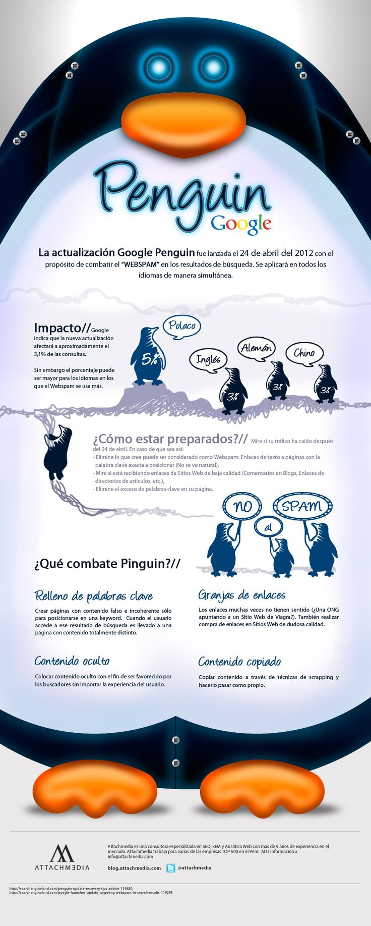 Penguin, el último esfuerzo de Google para combatir el spam [Infografía] | TreceBits - via http://bit.ly/epinner