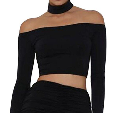 Special Offer: $13.08 amazon.com It is very easy and comfortable to wear. Unique design make you charming and keep you looking sexy!Material : 95%Polyester 5%SpandexOff Shoulder DesignChoker neckLong sleevesEnter back silver zipper