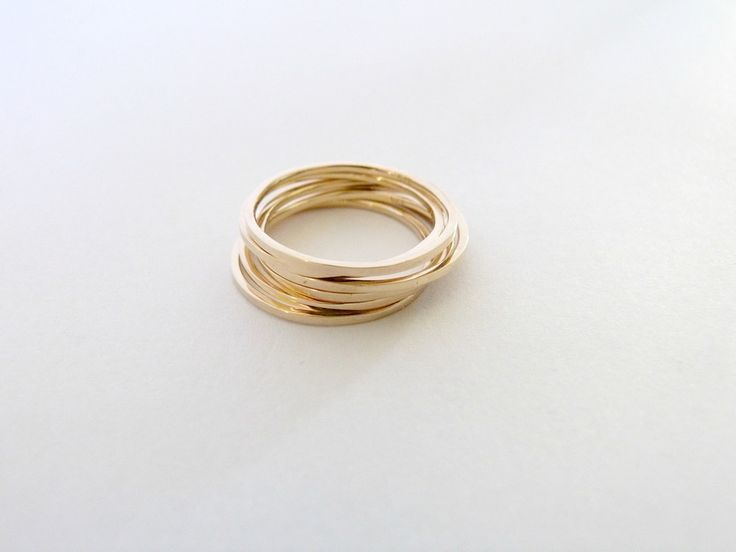 Beautiful gold stacking rings