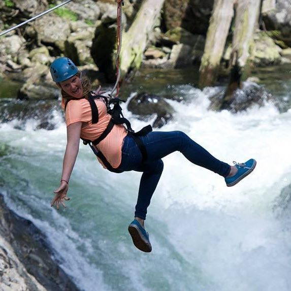 Contest Checkpoint: Glide over the #KennedyRiver canyon and through the forest…