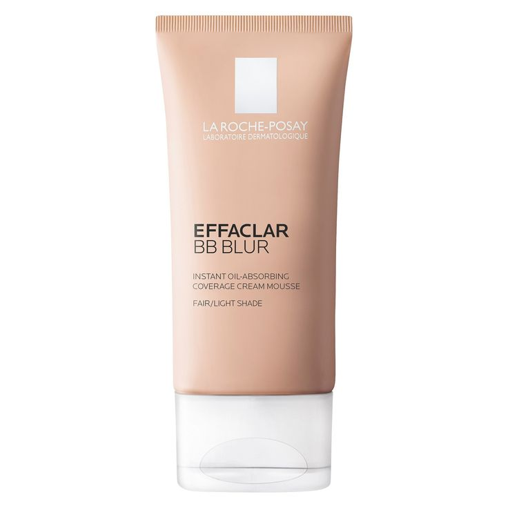 La Roche Posay Effaclar BB Blur Light/Medium Shade Instant Oil-Absorbing Coverage Cream Mousse 1.0 oz