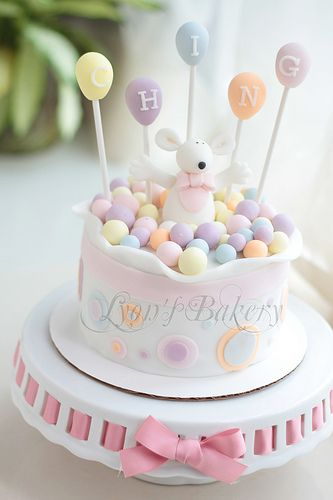 Lovely baby shower cake - love the pastel shades