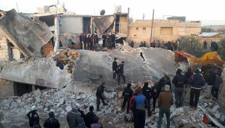Serangan udara Rusia bunuh 8 warga sipil di Aleppo barat  ALEPPO (Arrahmah.com) - Sedikitnya 8 warga sipil Suriah termasuk 4 anak telah tewas dalam serangan udara yang memukul pedesaan barat provinsi Aleppo meskipun ada kesepakatan gencatan senjata ujar laporan media lokal pada Kamis (12/1/2017).  Jet tempur Rusia menggempur sebuah kompleks apartemen di kota Babka barat kota Aleppo.  10 orang lebih telah terluka dan kelompok penyelamat masih terus mencari korban di bawah reruntuhan…