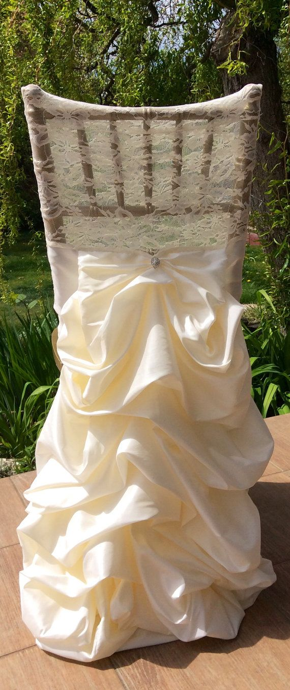 10 pieces Wedding chair cover wedding chair by FloraRosaDesign, Ft70000.00