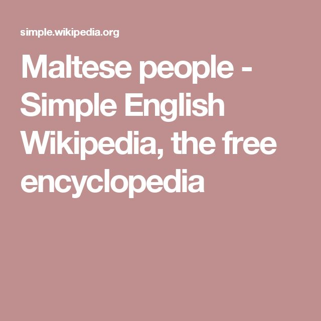 Maltese people - Simple English Wikipedia, the free encyclopedia