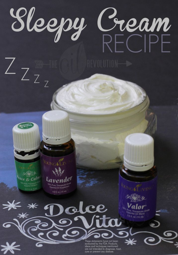 SLEEPY CREAM USING ESSENTIAL OILS - have used this oil combo in my diffuser and its awesome!