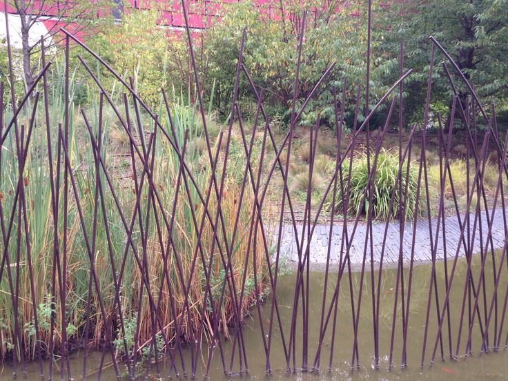 Fence of iron bulrushes. Paris