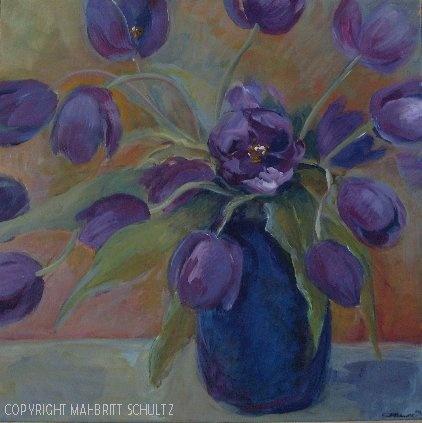 Painted in 2012 - 60 x 60 cm   by Mai-Britt Schultz