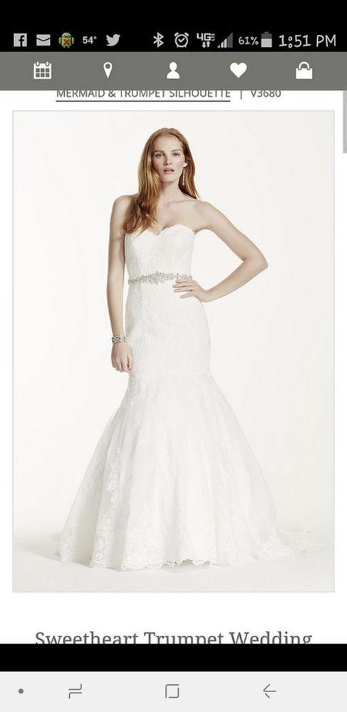 dc92805f Davids bridal Sweetheart Trumpet wedding dress size 8 | Think Weddings | Mermaid  trumpet wedding dresses, Sweetheart wedding dress, Dresses