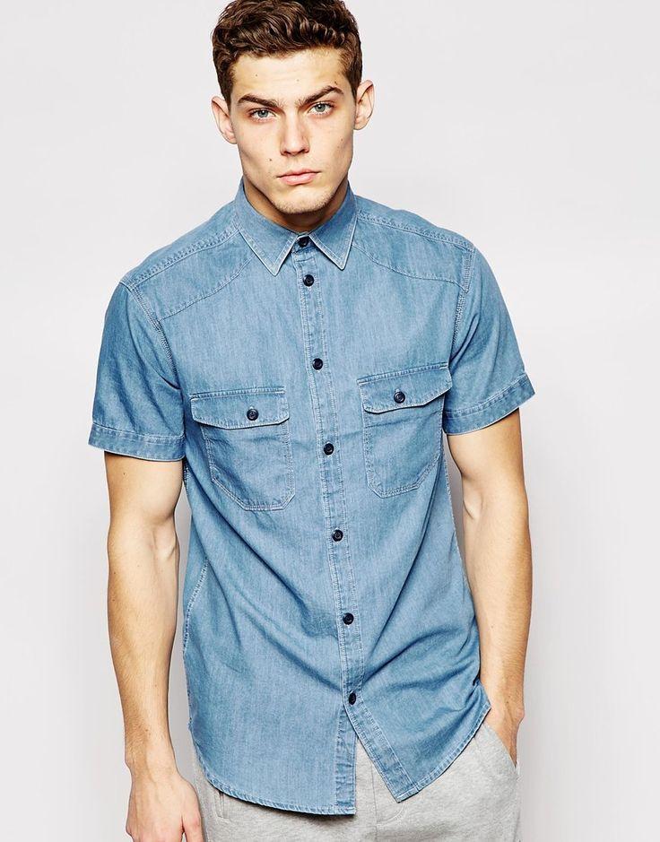 Jack & Jones Short Sleeve Denim Shirt