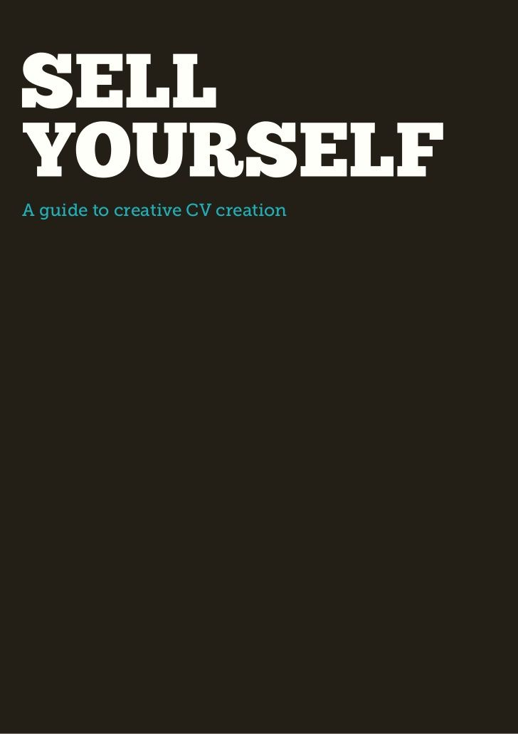 Creative CV Guide by Ryan MacLeod DJCAD MDes 2011