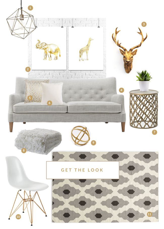Love The Grey White And Gold Combo For The Home For The Home