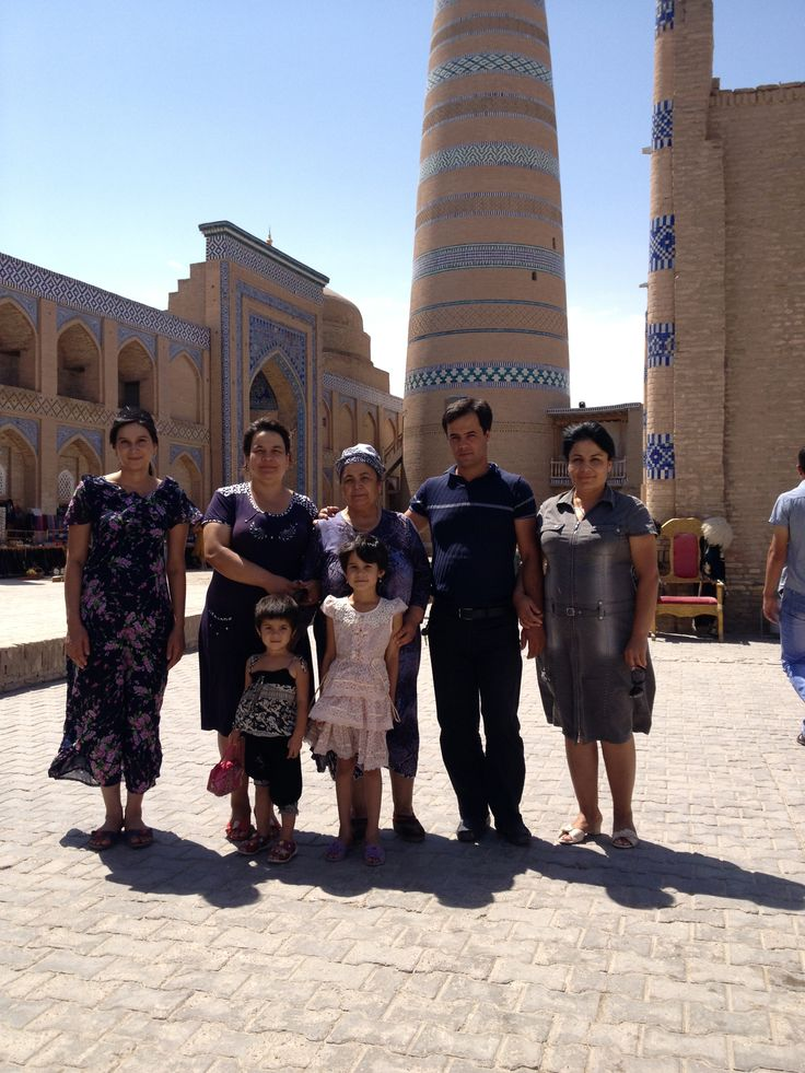 Family trip to Khiva -  the City museum under the open air.