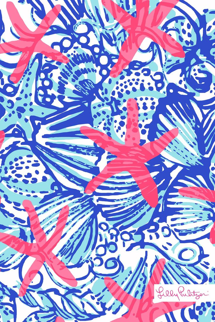 Lilly Pulitzer SummerSheSheShells iphone wallpaper