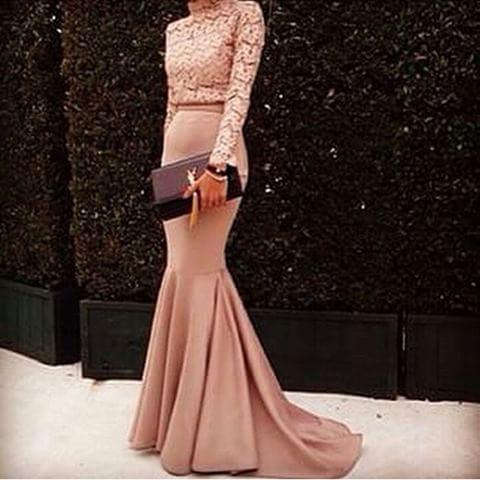 Long Sleeve Prom Dress,Mermaid Prom Dress,Fashion Prom Dress,Sexy
