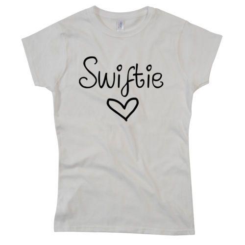 Womens Ladies Fit Swiftie T Shirt Taylor Swift Fan Love Music Red Swifty Tour | eBay