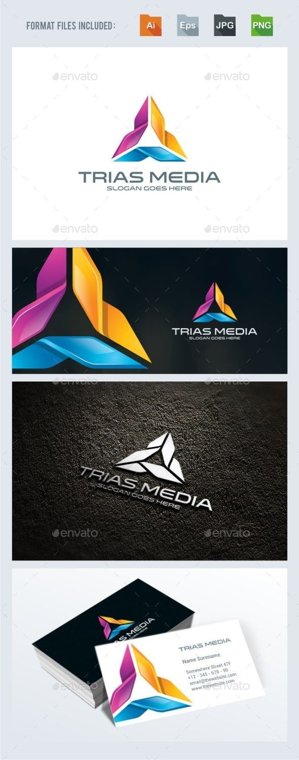 Trinity / Triangle   Logo Design Template Vector #logotype Download it here: http://graphicriver.net/item/trinity-triangle-logo-template/13343298?s_rank=453?ref=nesto