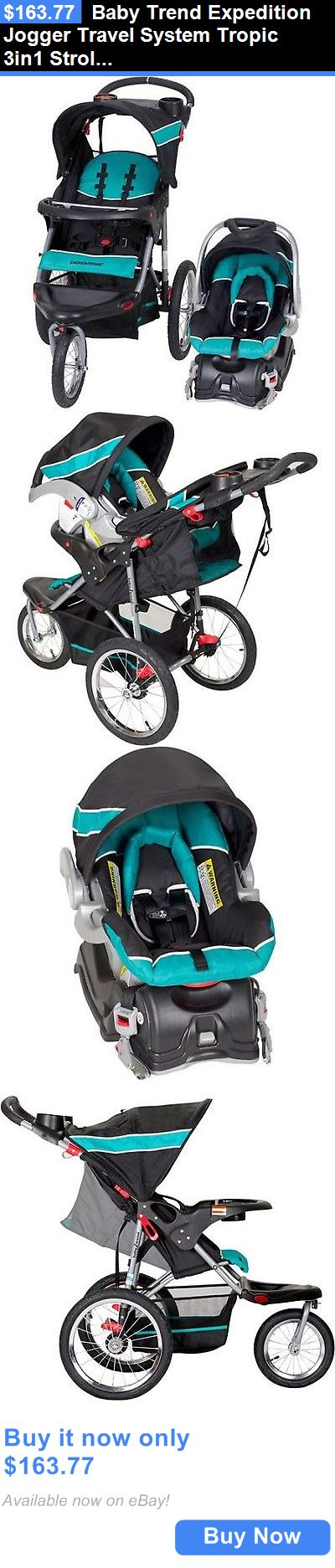 baby kid stuff: Baby Trend Expedition Jogger Travel System Tropic 3In1 Stroller Car Seat New BUY IT NOW ONLY: $163.77
