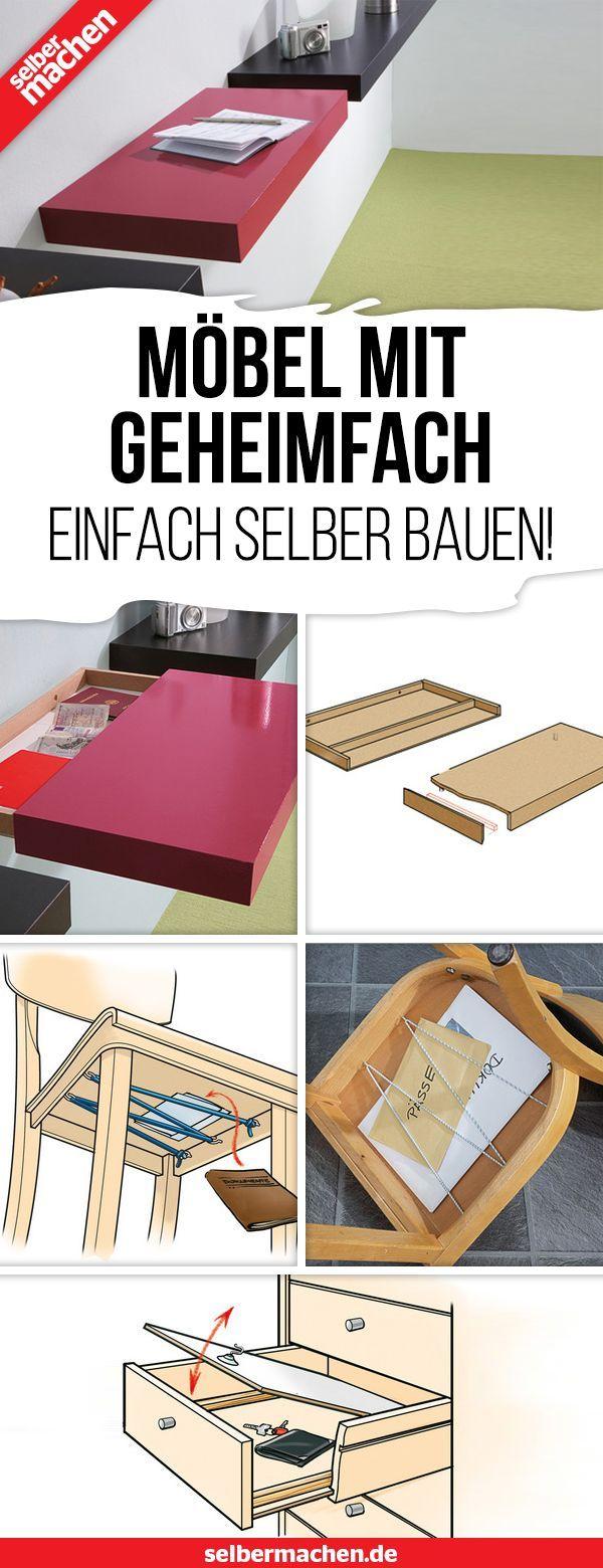Einfach selbst Möbel mit Geheimfach bauen