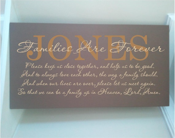 LOVE this family quote from Unique Vinyl Designs on Etsy.