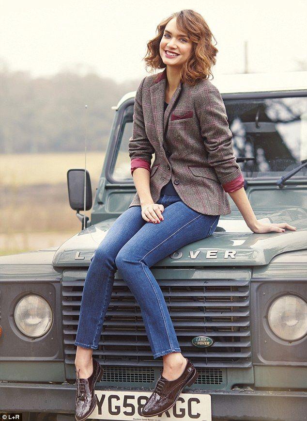Jacket, £80, Ella at viyella.co.uk; Jeans, £182, mih-jeans.com; Brogues, £98.10, hobbs.co.uk