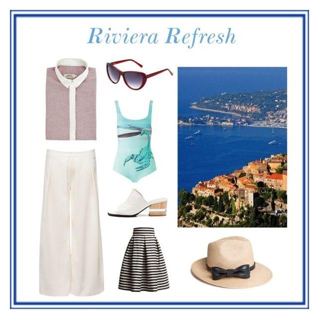 """Riviera Refresh"" by wolfandbadger ❤ liked on Polyvore featuring Moka London, Gyunel, Heidi London, Dear Frances, Rumour London and The Season Hats"