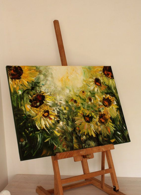 Sunny Sunflowers by BarbaraGallery on Etsy