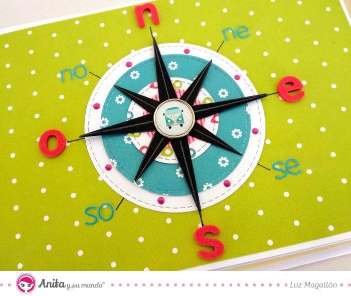 Rosa De Los Vientos Manualidades De Papel Album De Viajes Rosa De Los Vientos Dibujo Manualidades