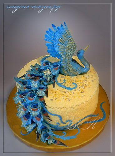 "Cake ""The Blue Bird"" - by SPechenkina @ CakesDecor.com - cake decorating website"