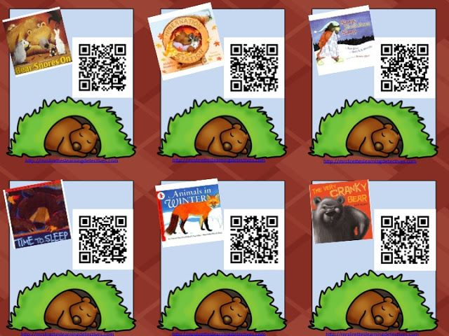 FREE- QR Codes for hibernation/preparing for winter read alouds.  Perfect for a literacy station!