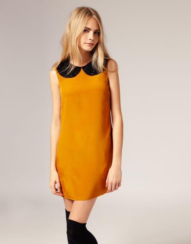 60s-mini-dress plus knee highs.