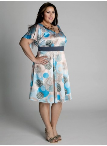 Flirtatious Sun Dress    The coquettishly playful sundress with multicolored abstract pattern is a perfect style to celebrate sunshine filled days while looking scrumptiously feminine.