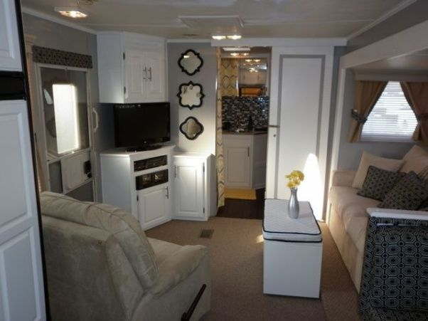 camper travel trailer rv remodel my parents gave us their old camper now they want it back. Black Bedroom Furniture Sets. Home Design Ideas