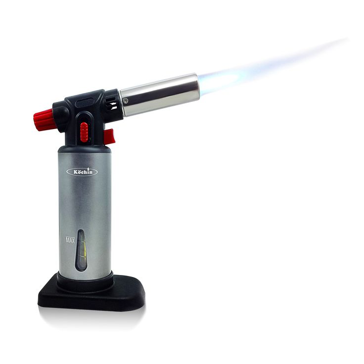 awesome Köchin Kitchen Flameblu Culinary Torch - Professional Creme Brulee Torch For Professional & Home Chef Kitchen Use - Cooking Blow Torch - Kitchen Toy - Butane Gas Fuel - searing - brown meringue - steak - roasted marshmallows - Create Delicious Foods And Desserts! http://www.amazon.com/dp/B00T5HL7VA