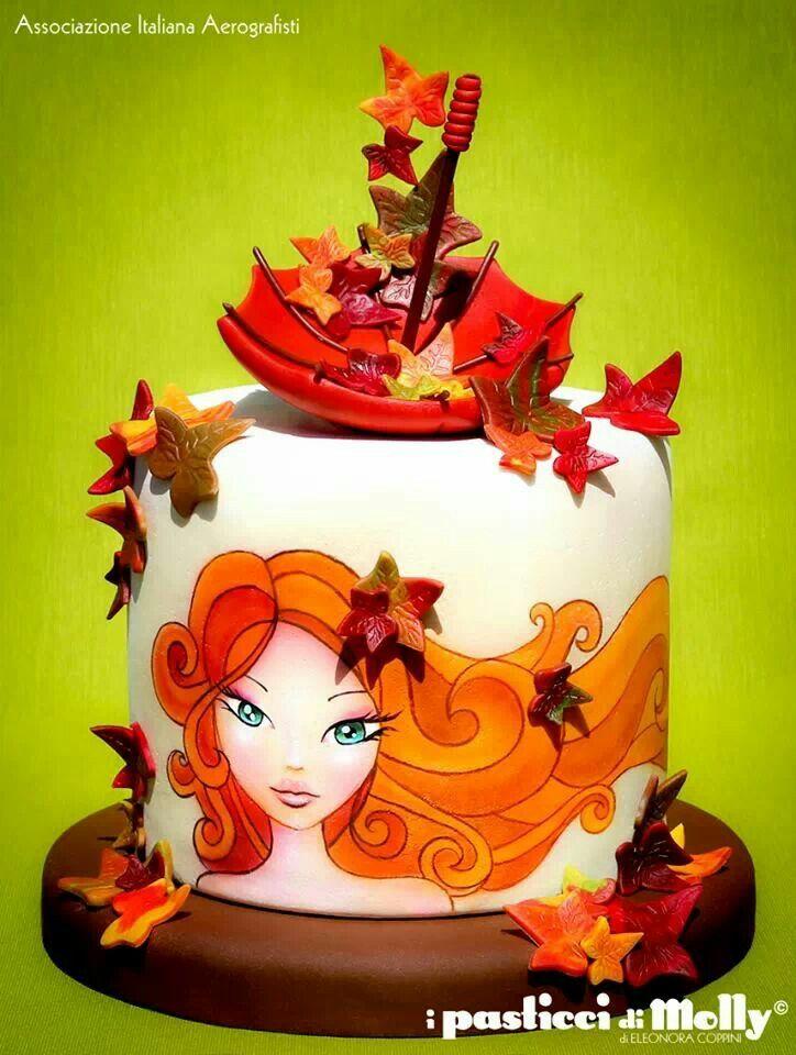 red head autumn cake