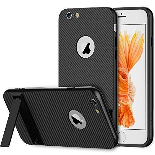 iPhone 6s Case JETech Slim-Fit iPhone 6 Case with Self Stand for Apple iPhone 6 6s 4.7 (Black) - 3380