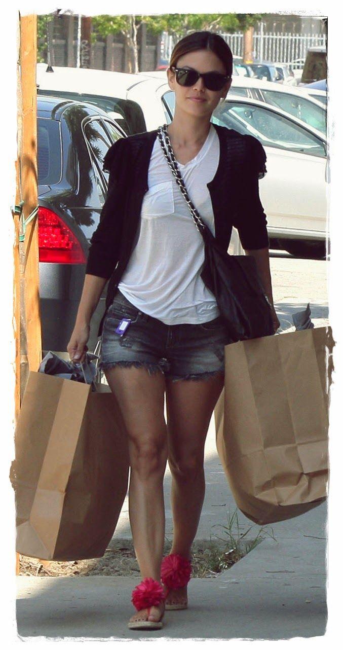 #Rachel #Bilson #Denim #Shorts Street Snapshot 04