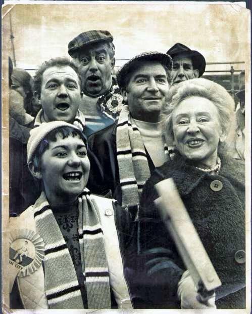 Coronation Street characters at a Man Utd match.