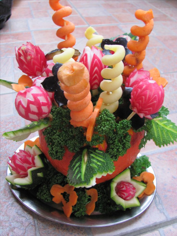 zeleninová kytka