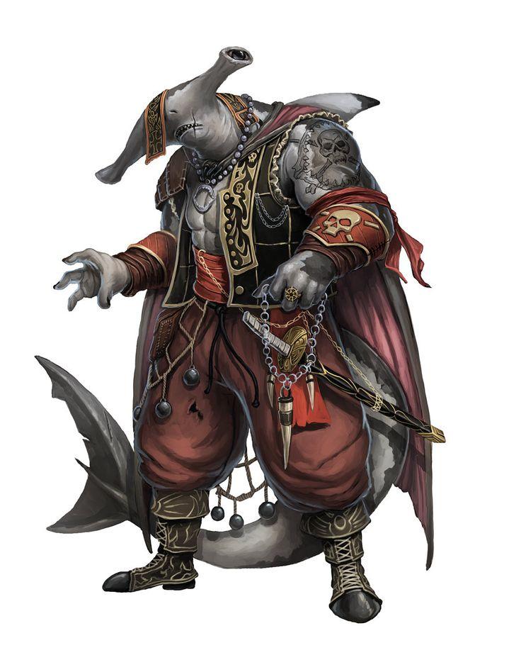 Vaeski Arlong Trident Hayden Shark Taitãn - Soldado Hibrido tubarao martelo - Reino de Riacho Profundo