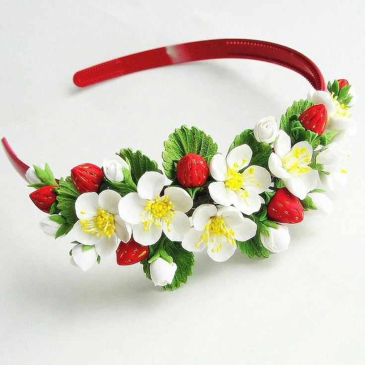 Headband. Handmade flowers. Flowers. Children. Hair accessories. Berry. Children hair accessories.