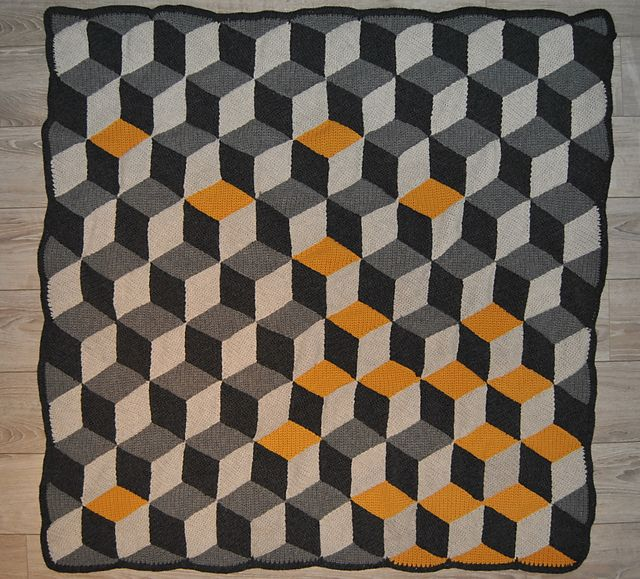 Ravelry: Project Gallery for Vasarely blanket pattern by Mrs Purple --> what a blanket. Don't think I have it in me, but impressive.