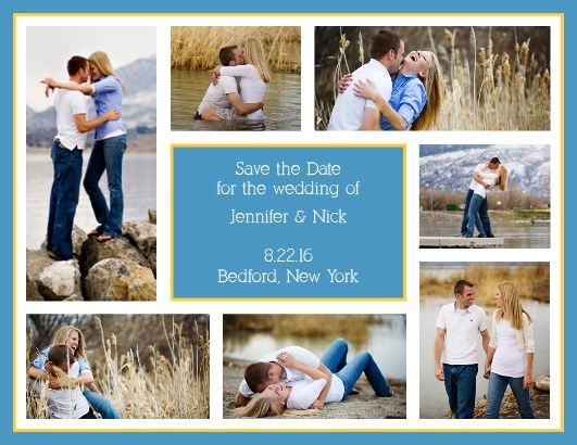 """With room for seven of your favorite photographs, the Modern Photo Collage is a highly personal <a class=""""crosslink"""" href=""""https://www.basicinvite.com/wedding/save-the-date.html"""" target=""""_self"""" alt=""""Save the Date Cards Online"""" title=""""Save the Date Cards Online"""">save the date</a> card that uses your photos and bold accents to express the joy of your upcoming nuptials.</p>"""