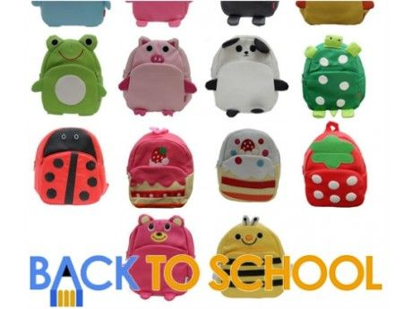 Pack everything your little one needs for their school day in one of these cute animal backpacks.